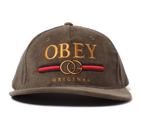 Obey Snapback Cap - Obey High Post Snapback Cap (Dark Olive)
