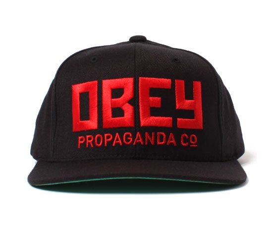 Obey Snapback Cap - Obey Rush Snapback Cap (Black)