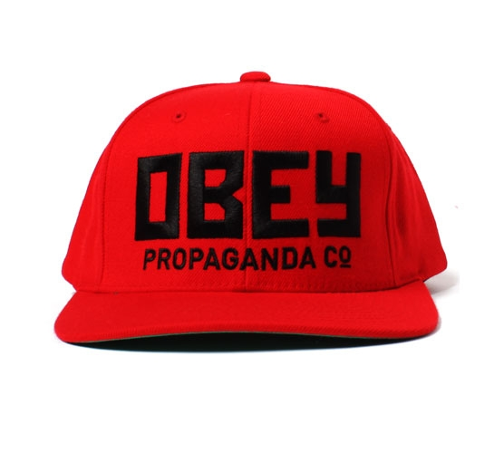 Obey Snapback Cap - Obey Rush Snapback Cap (Red)