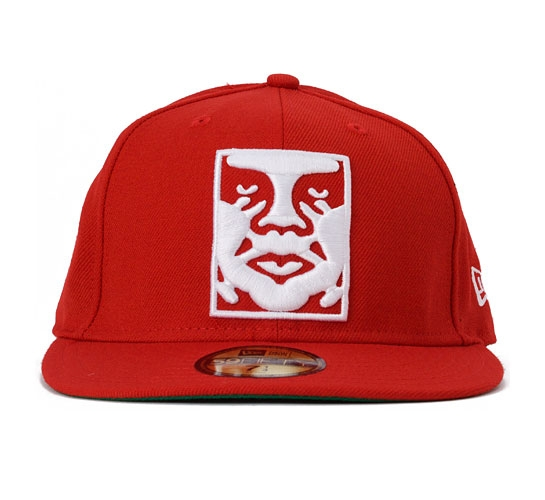 Obey Icon New Era Cap (Red)