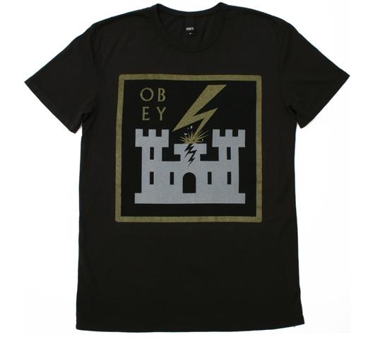 Obey Men's T-Shirt - Leaving Babylon (Graphite)