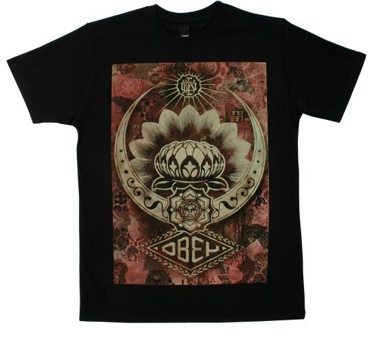 Obey Men's T-Shirt - Lotus Canvas (Black)