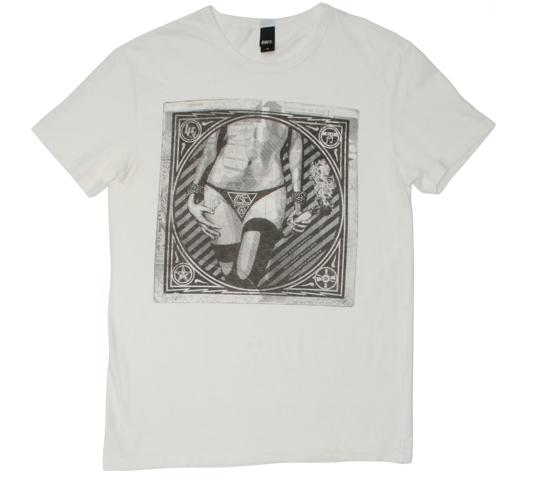 Obey Men's T-Shirt - Molotov Girl (Light Grey)