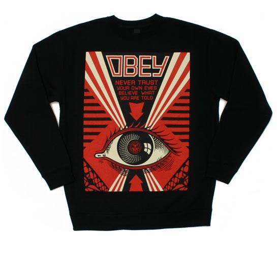 Obey Men's Sweatshirt - Never Trust Your Own Eyes