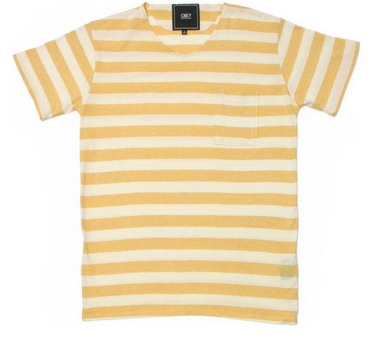 Obey Men's T-Shirt - Own Path (Mustard)