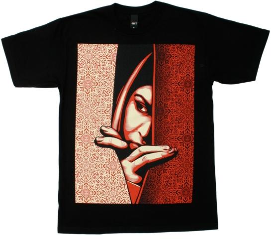 Obey Men's T-Shirt - Palestinian Woman (Black)