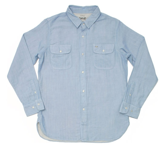 Obey Men's Shirt - Sea Wolves (Light Indigo)