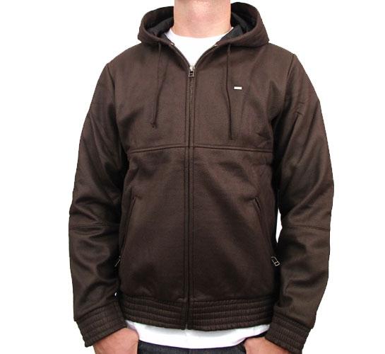 Obey Men's Sweatshirt - Obey Silent Shout Zip Hood (Brown)