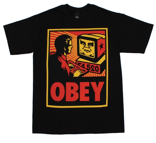 Obey Men's T-Shirt - Obey Your Computer (Black)