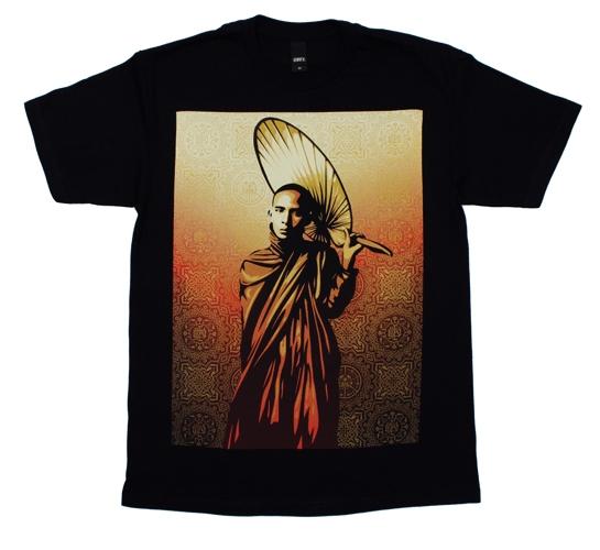 Obey Men's T-Shirt - Monk In Burma (Black)
