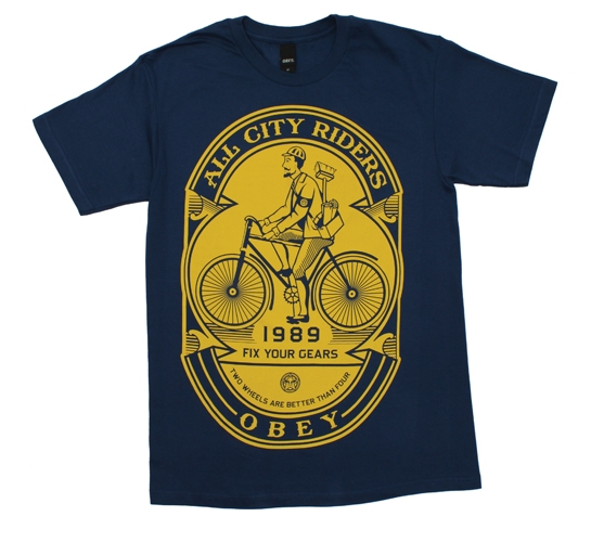 Obey Men's T-Shirt - Fix Your Gears (Patrol Blue)