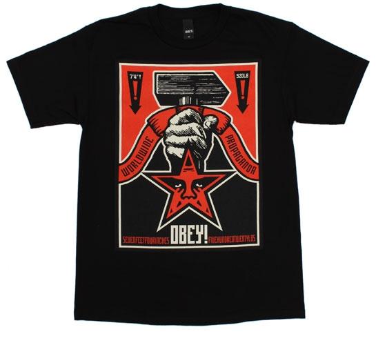 Obey Men's T-Shirt - Hammer (Black)