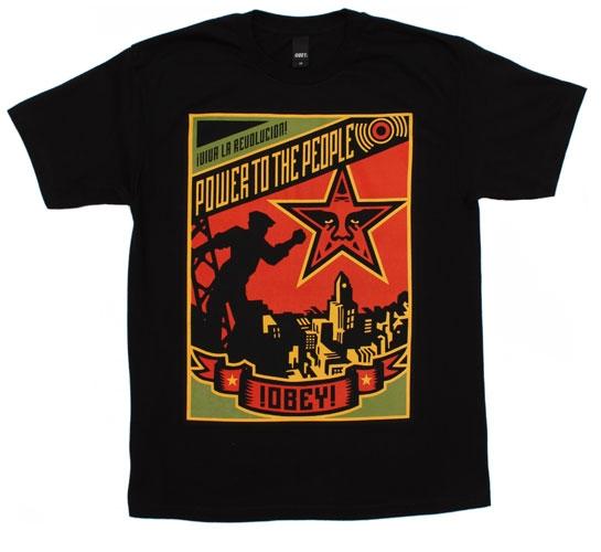 Obey Men's T-Shirt - Power (Black)