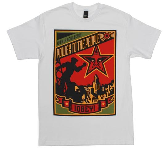 Obey Men's T-Shirt - Power (White)