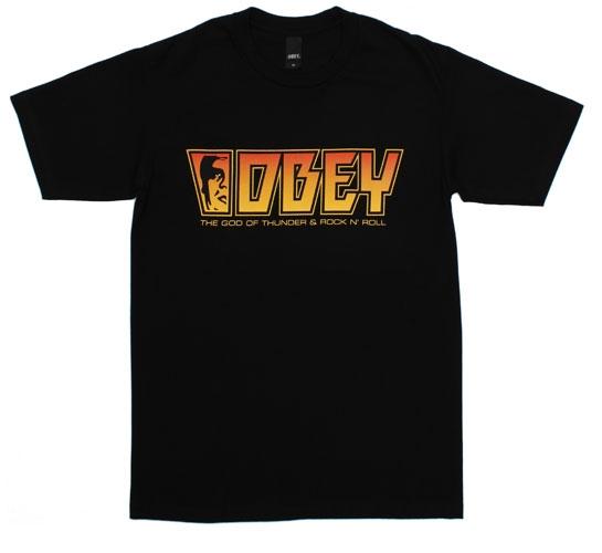 Obey Men's T-Shirt - Rock (Black)