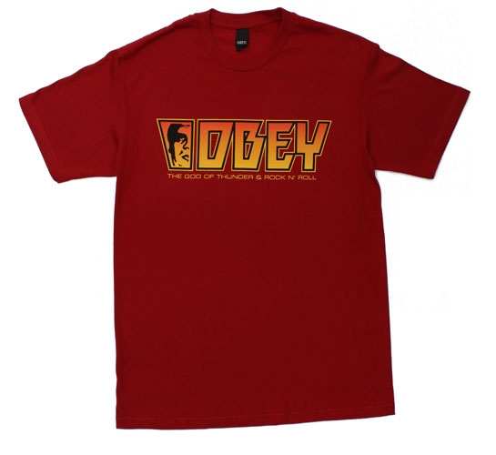 Obey Men's T-Shirt - Rock (Red)