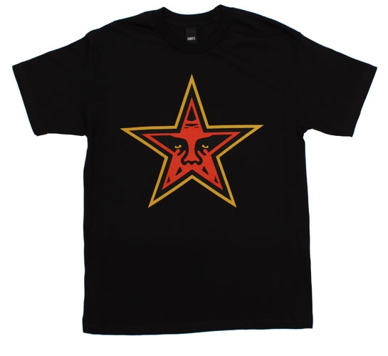 Obey Men's T-Shirt - Star (Black)