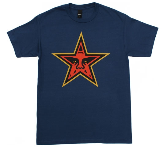 Obey Men's T-Shirt - Star (Patrol Blue)