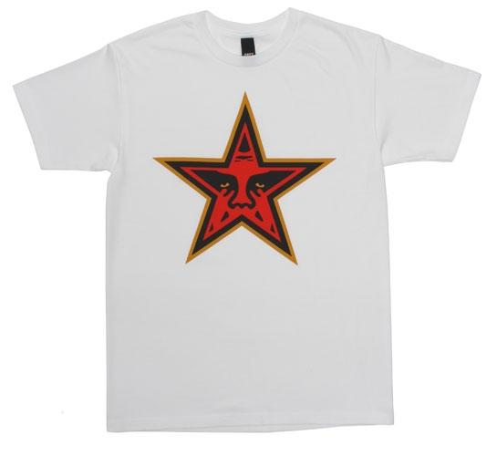Obey Men's T-Shirt - Star (White)