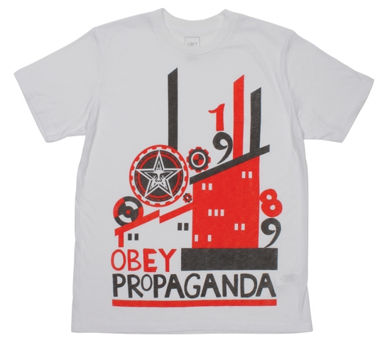 Obey Men's T-Shirt - Factory Propaganda (White)