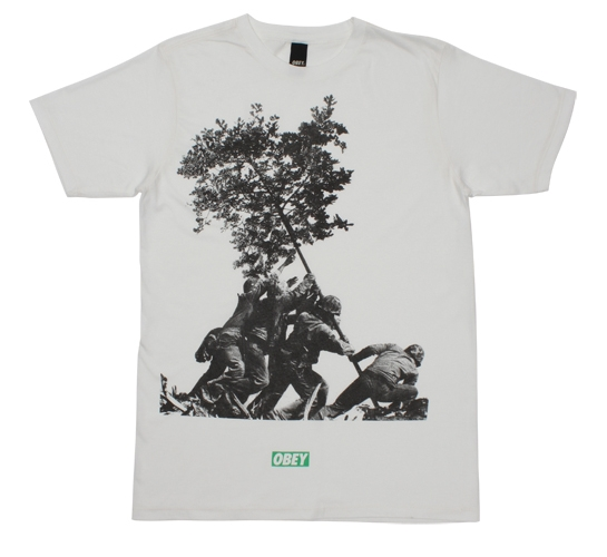 Obey Men's T-Shirt - Fight For Earth (White)