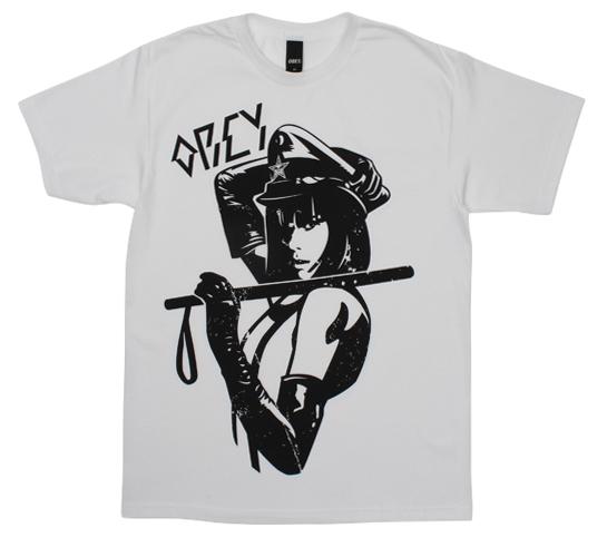 Obey Men's T-Shirt - Crime & Punishment (White)