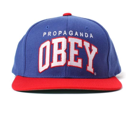 Obey Snapback Cap - Obey Throwback Snapback Cap (Blue)