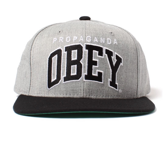 Obey Snapback Cap - Obey Throwback Snapback Cap (Heather Grey)
