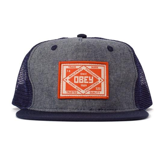Obey Trademark Trucker Cap (Navy)