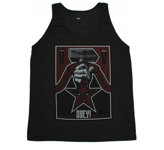 Obey Men's T-Shirt - Hammer Tank (Black)