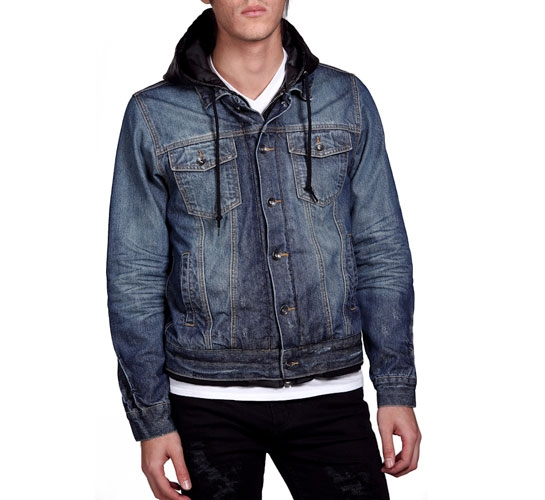 Obey Men's Jacket - Wasted Youth (Indigo)