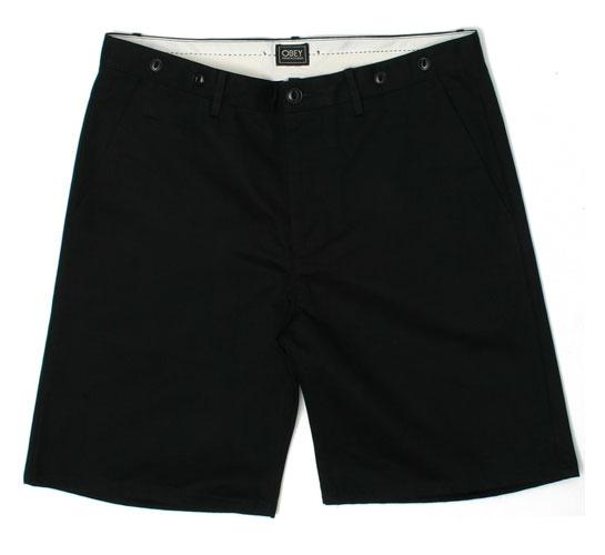 Obey Men's Shorts - Working Man (Black)