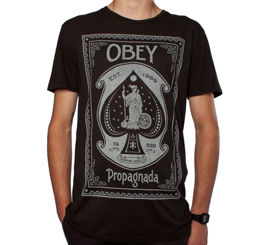 Obey Ace Of Spades T-Shirt (Graphite)