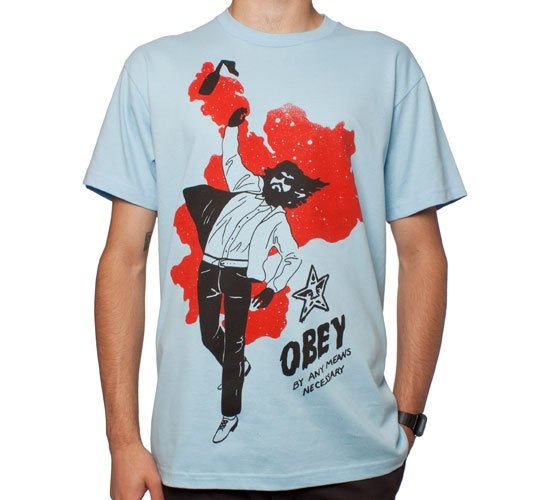 Obey Any Means T-Shirt (Light Blue)