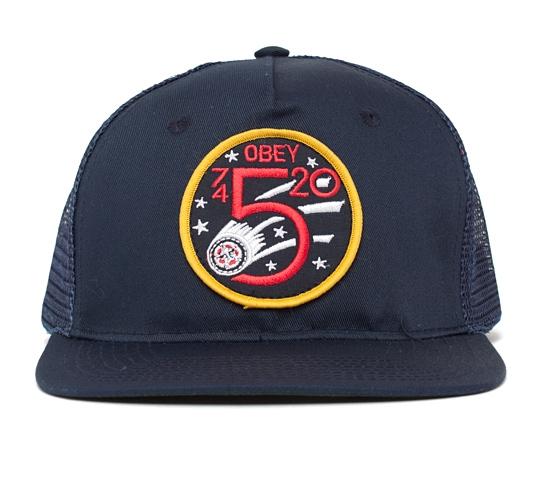 Obey Apollo Trucker Cap (Royal Blue)
