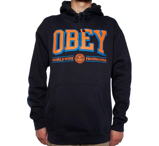 Obey Athletics Hooded Sweatshirt (Navy)