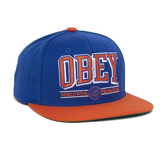 Obey Athletics Snapback Cap (Royal Blue/Orange)