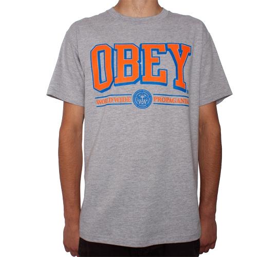 Obey Athletics T-Shirt (Heather Grey)