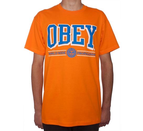 Obey Athletics T-Shirt (Orange)