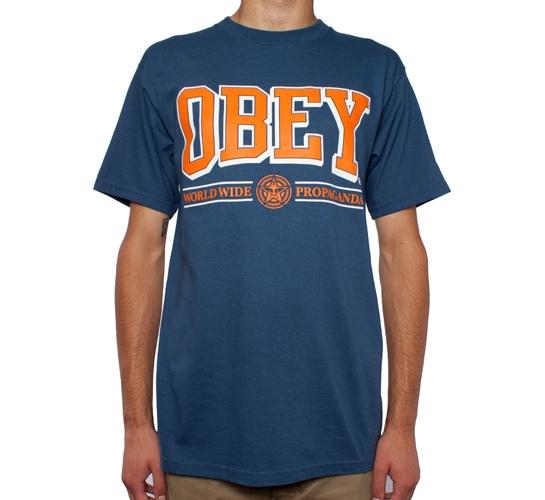 Obey Athletics T-Shirt (Patrol Blue)