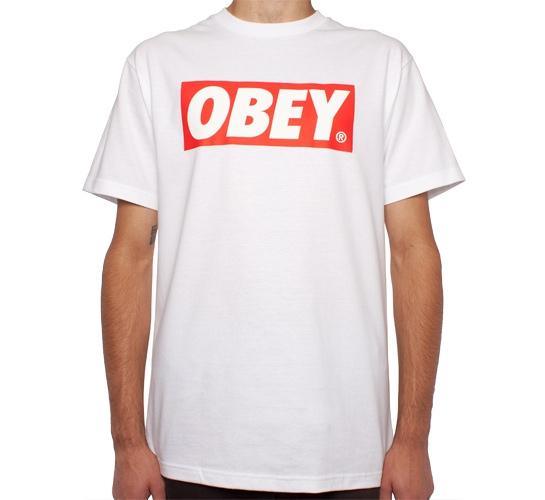 Obey Bar Logo T-Shirt (White)