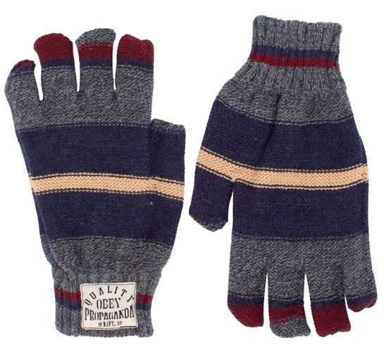 Obey Blanket Gloves (Heather Charcoal)