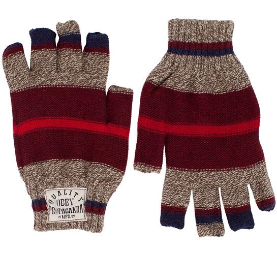 Obey Blanket Gloves (Heather Oatmeal)
