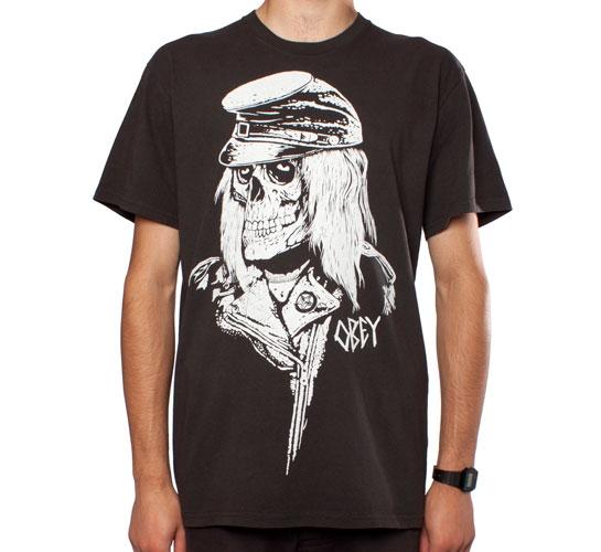 Obey Civil War Skull T-Shirt (Heather Graphite)