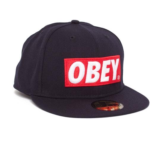 Obey Classic Material New Era Cap (Black)
