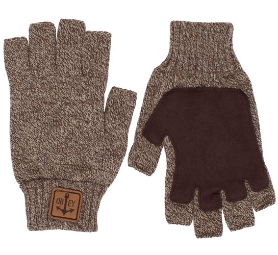 Obey Explorer Gloves (Heather Oatmeal)