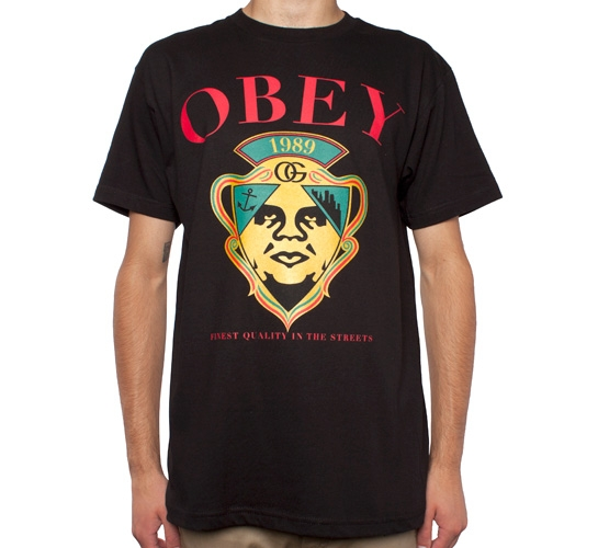 Obey Genuine Article T-Shirt (Black)