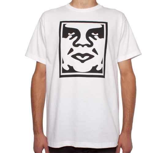 Obey Icon Face T-Shirt (White)