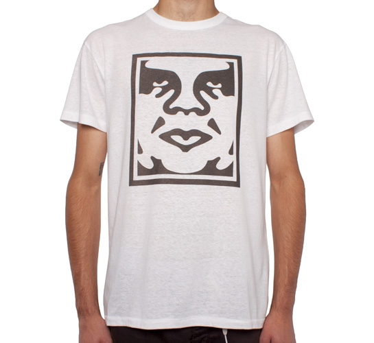 Obey Icon Face Tri-Blend T-Shirt (Natural/White)