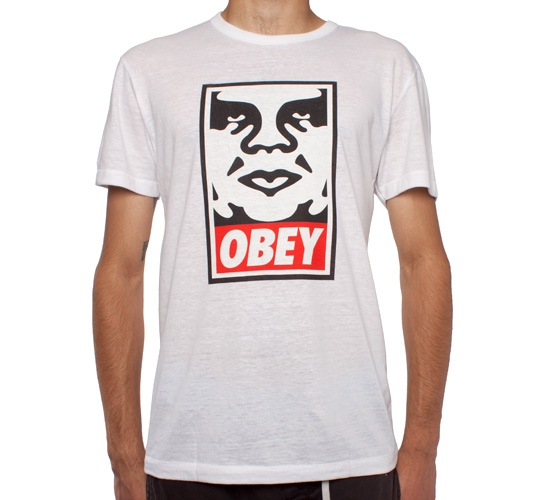 Obey Icon Tri-Blend T-Shirt (Natural/White)